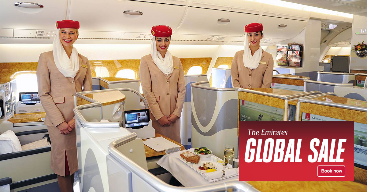 Emirates Airlines largest Global Sale has begun with worldwide flight offers from S$409