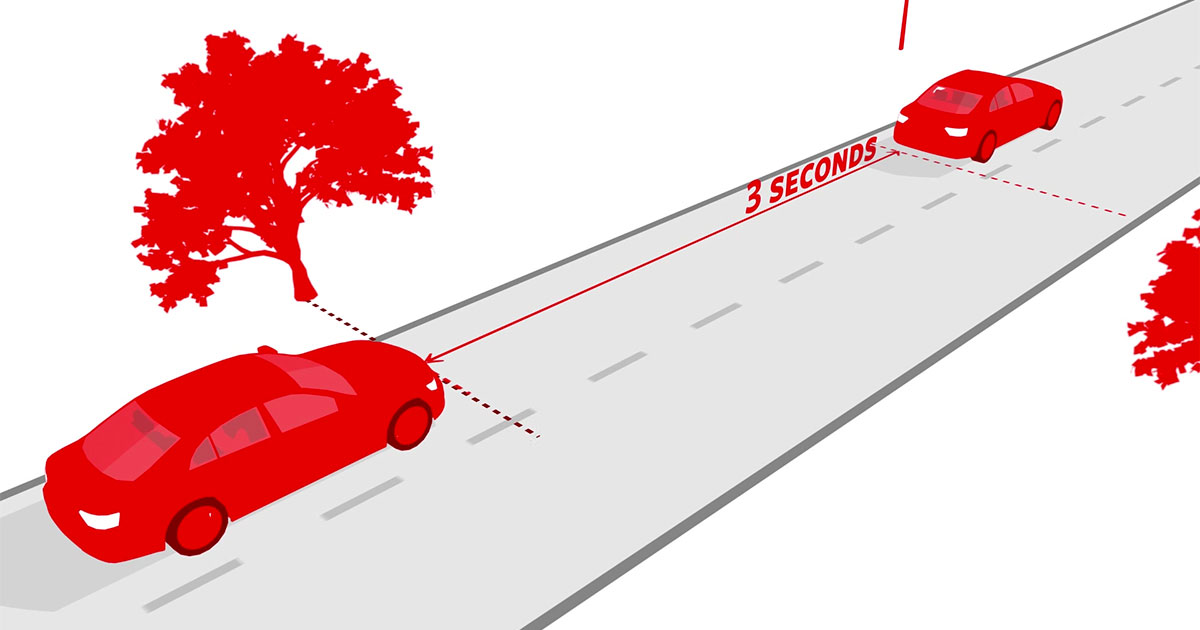 The 3-second driving rule shown in this video could save your life
