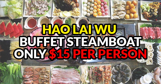 This crazy deal lets you enjoy Hao Lai Wu Steamboat Buffet for just $15 nett per person