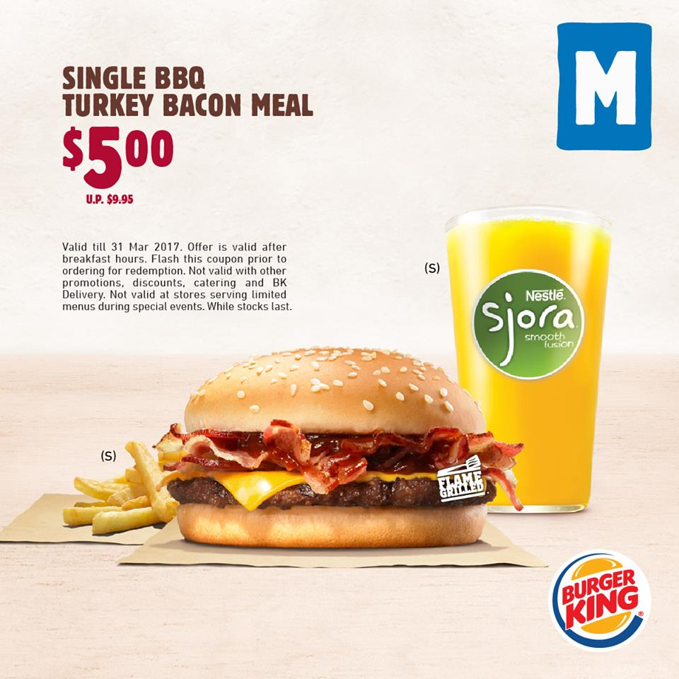 Burger King latest Meal Discount Coupons now available for use till ...