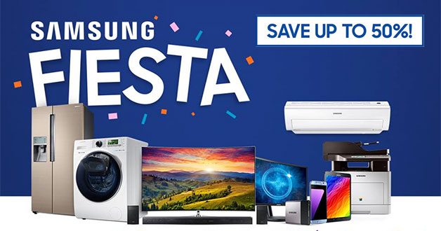 This crazy one-day Samsung Fiesta lets you save up to 50% on smartphones, TVs, washers, fridge & more
