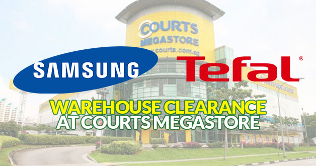 There's a Samsung & Tefal Warehouse Clearance Sale at Courts Megastore this weekend