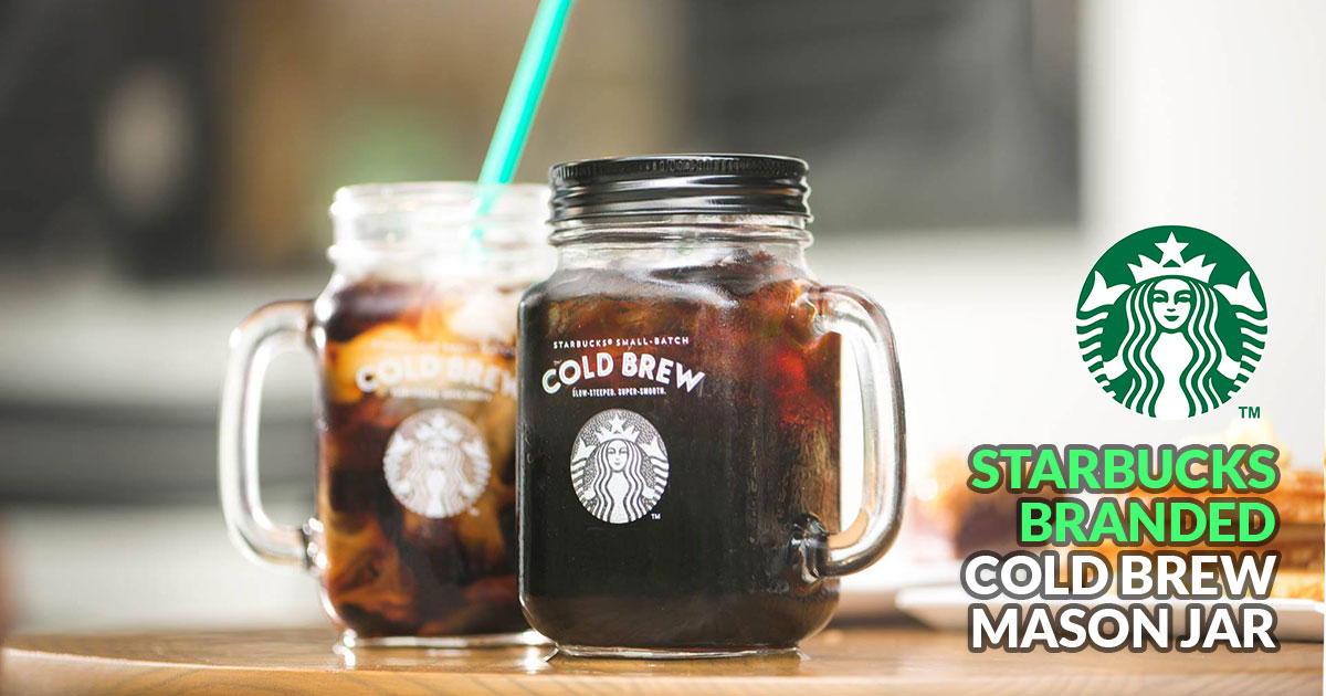 Take home this Starbucks-branded Mason Jar for $5.90 with any Cold Brew order