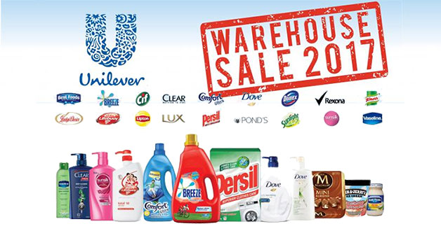 World's largest consumer goods firm Unilever to hold Warehouse Sale on March 18 & 19