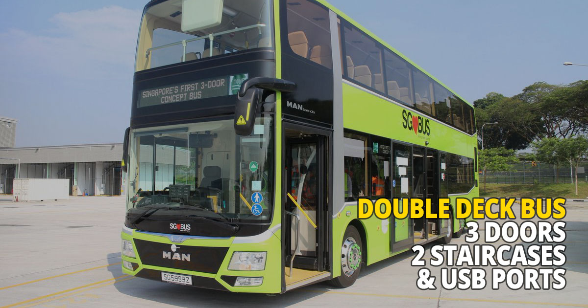 New 3-door Double Decker Bus with 2 staircases and USB ports hits the road today