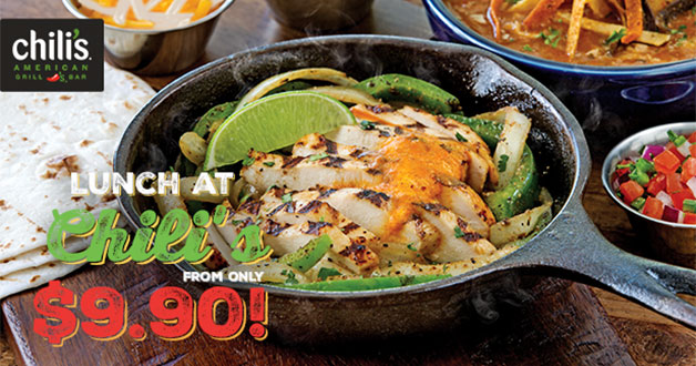 3-Course Lunch at Chili's restaurants will only cost S$9.90 on weekdays