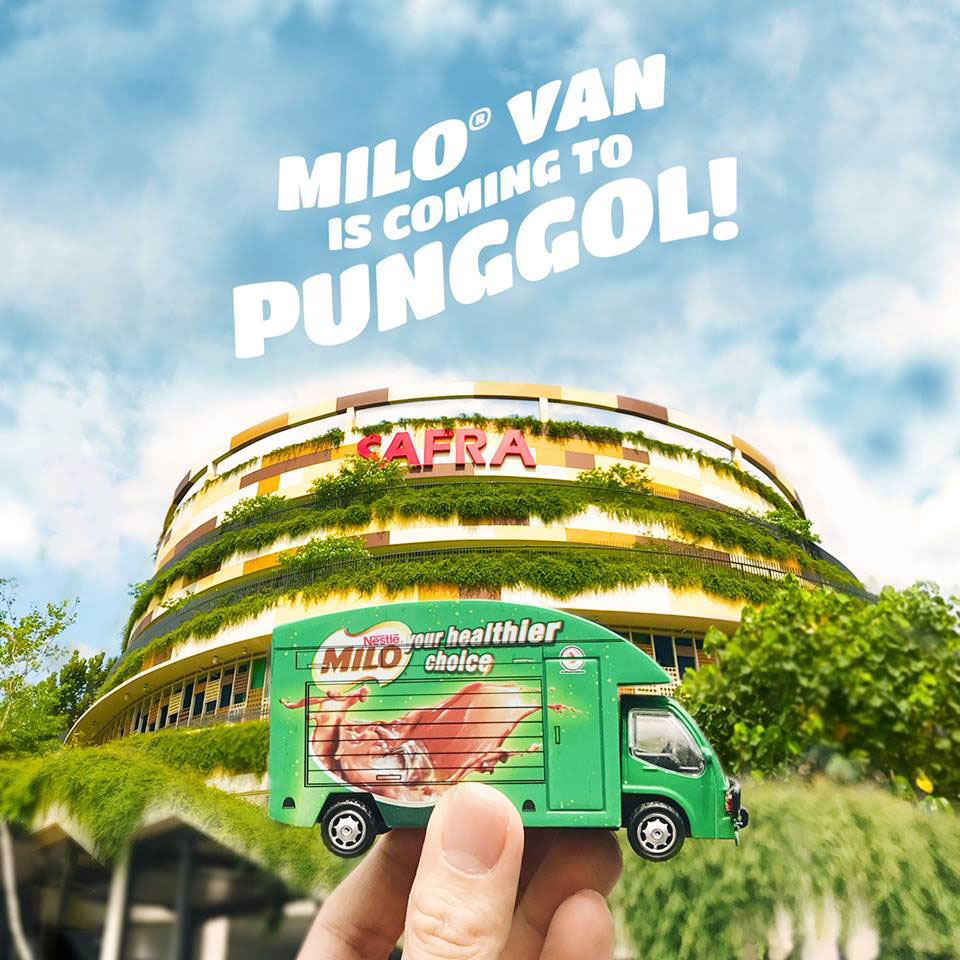 Grab your free drink as MILO Van heads to SAFRA Punggol this Sunday (April 23)
