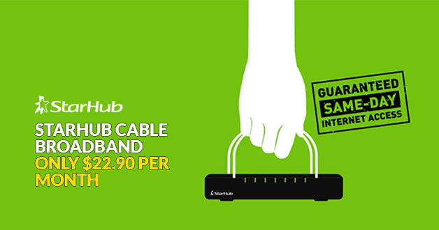 Starhub has a 200mbps cable broadband service that will only cost you $22.90 per month