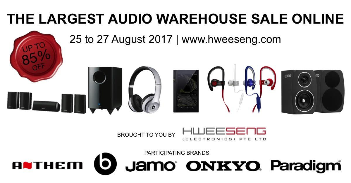 Hi-Fi distributor Hwee Seng now holding a Warehouse Sale online on earphones, speakers, amps & more