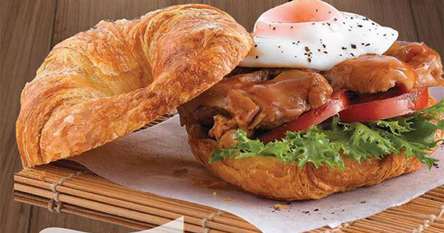 Delifrance 1-for-1 promotion on selected Croissant Burgers every Wed & Thurs this September