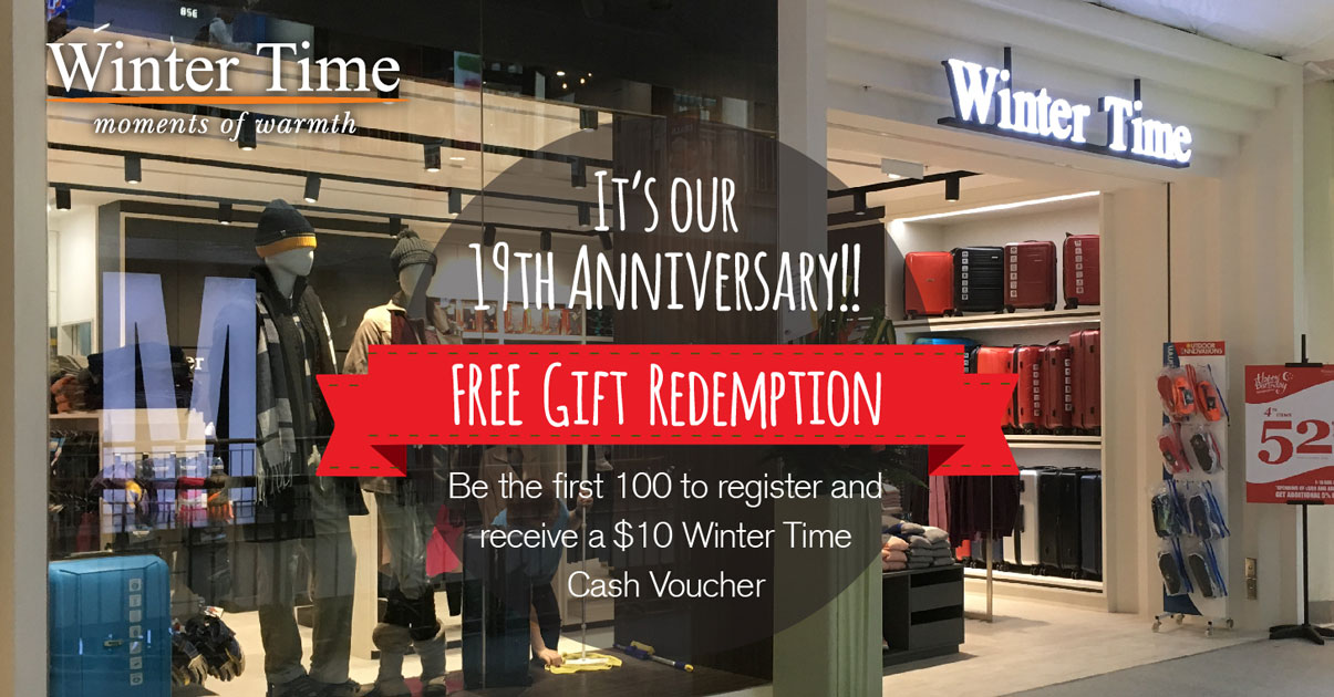 Winter Time is giving away  10 cash vouchers for free in their 19th ... 9de8fba7e