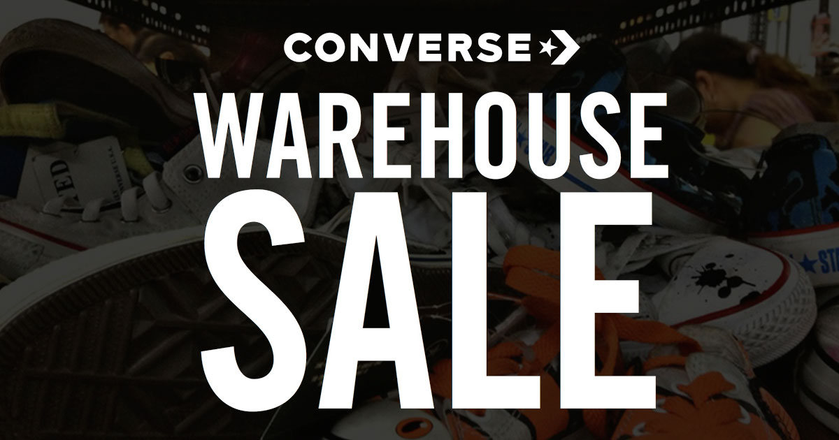 Attention sneakerheads! Converse Warehouse Sale set to return from November 29