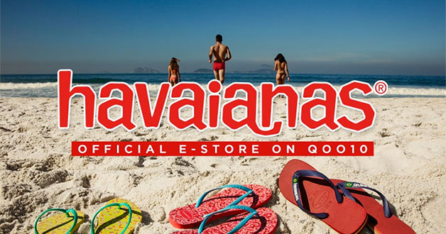 Official Havaianas store launches on Qoo10, offers 60% off all flip-flops for a limited time