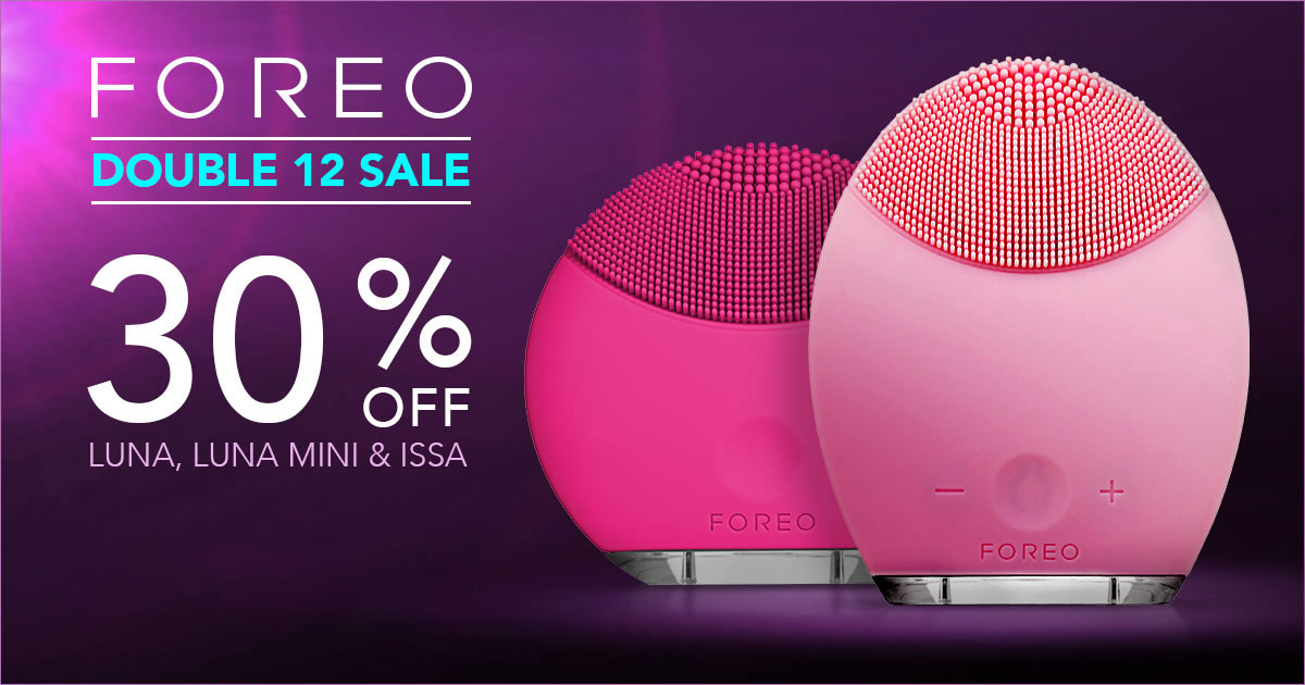Swedish beauty brand FOREO to offer 30% off facial cleaning products because it's #1212
