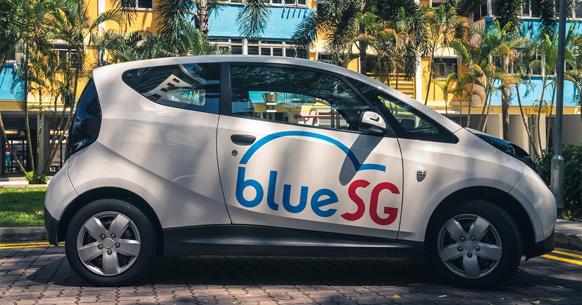 Singapore's first electric car sharing service BlueSG launches with 80 cars at 30 locations
