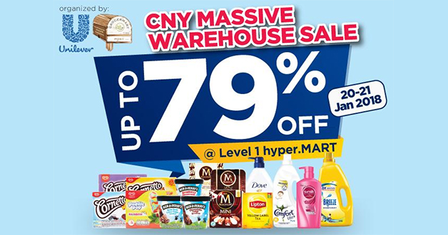 Unilever to hold massive CNY Warehouse Sale at Big Box on January 20 & 21