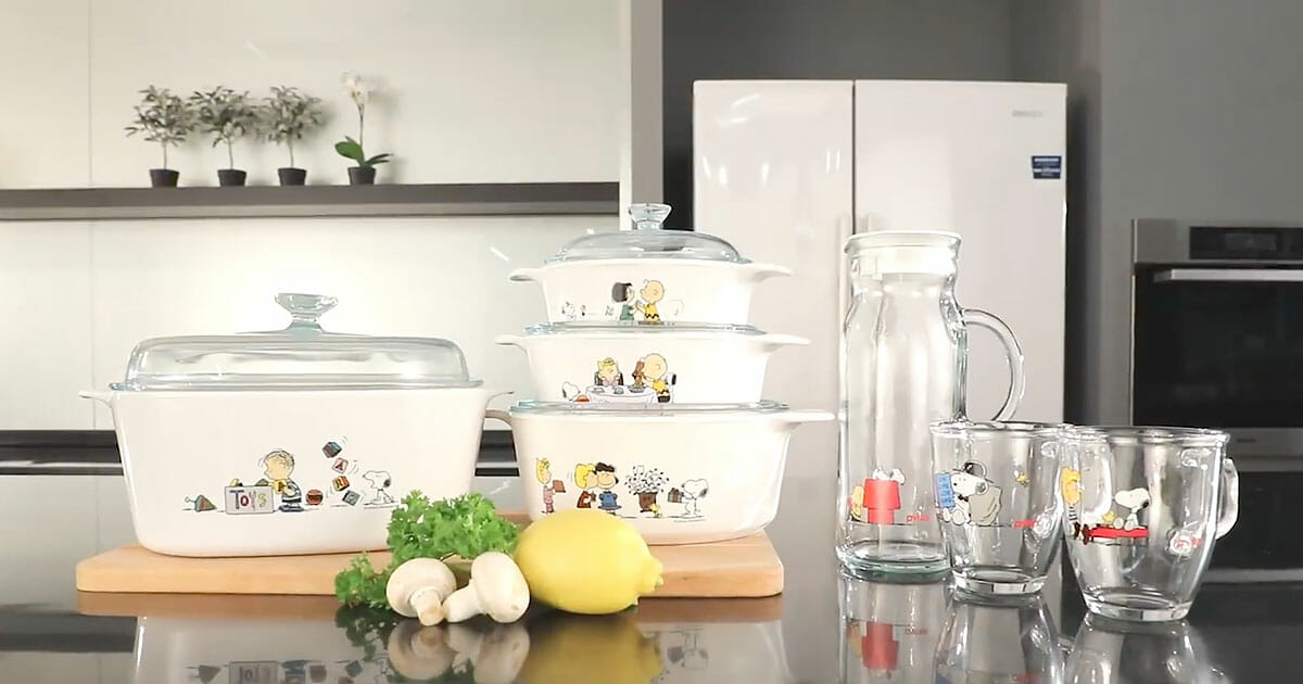 Redeem Corningware Limited Edition Cookware with Snoopy prints at FairPrice from now till June 6
