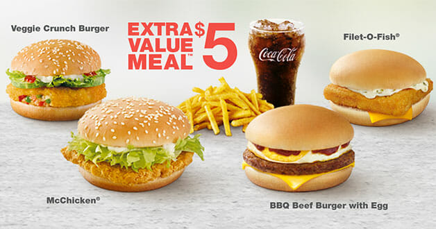 $5 Extra Value Meals are still a thing at McDonald's Singapore