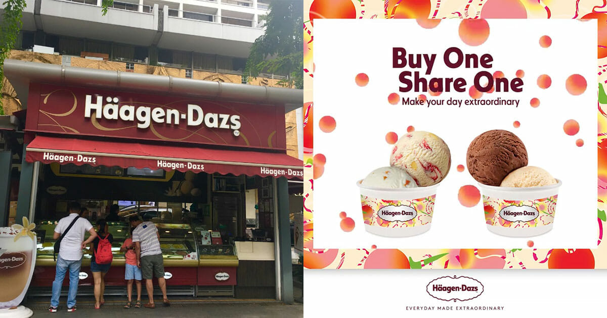 Haagen-Dazs offers new Peach Flavours with 1-for-1 Double Scoops promotion at outlets this week