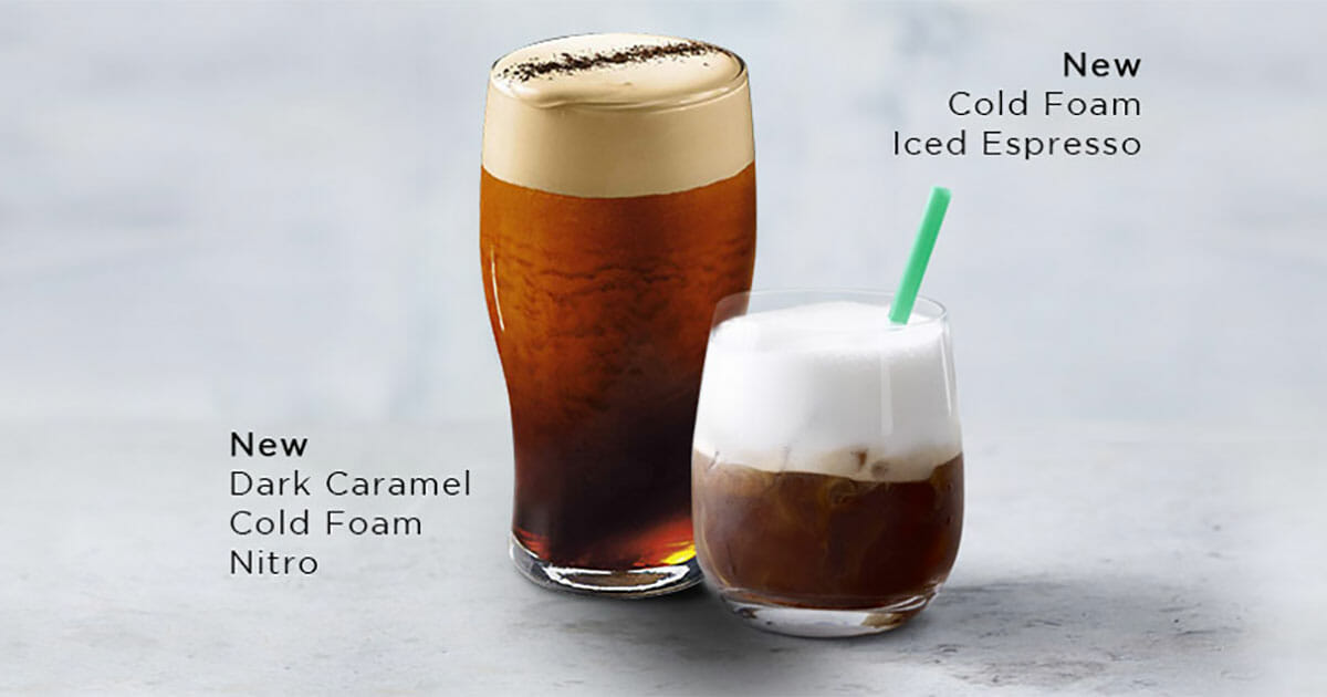 Starbucks Singapore now offers new Cold Foam Beverages that were only found in USA stores