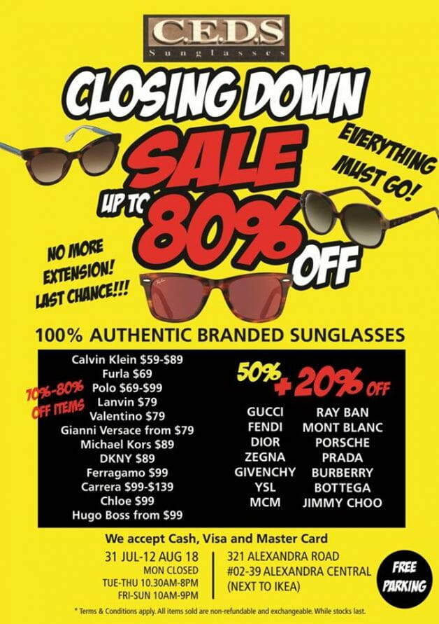 50d0471b2c35a Expect discounts up to 80% on top sunglasses brands including Ferragamo