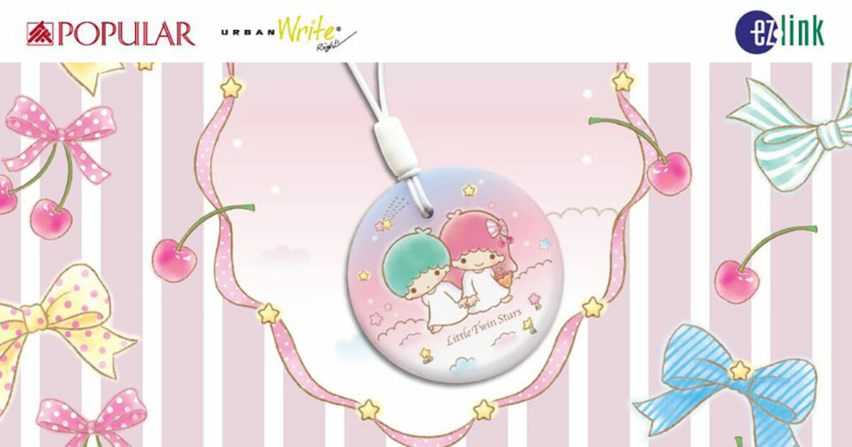 Keep Sanrio's Little Twin Stars in your pocket with EZ-Link latest charm released today
