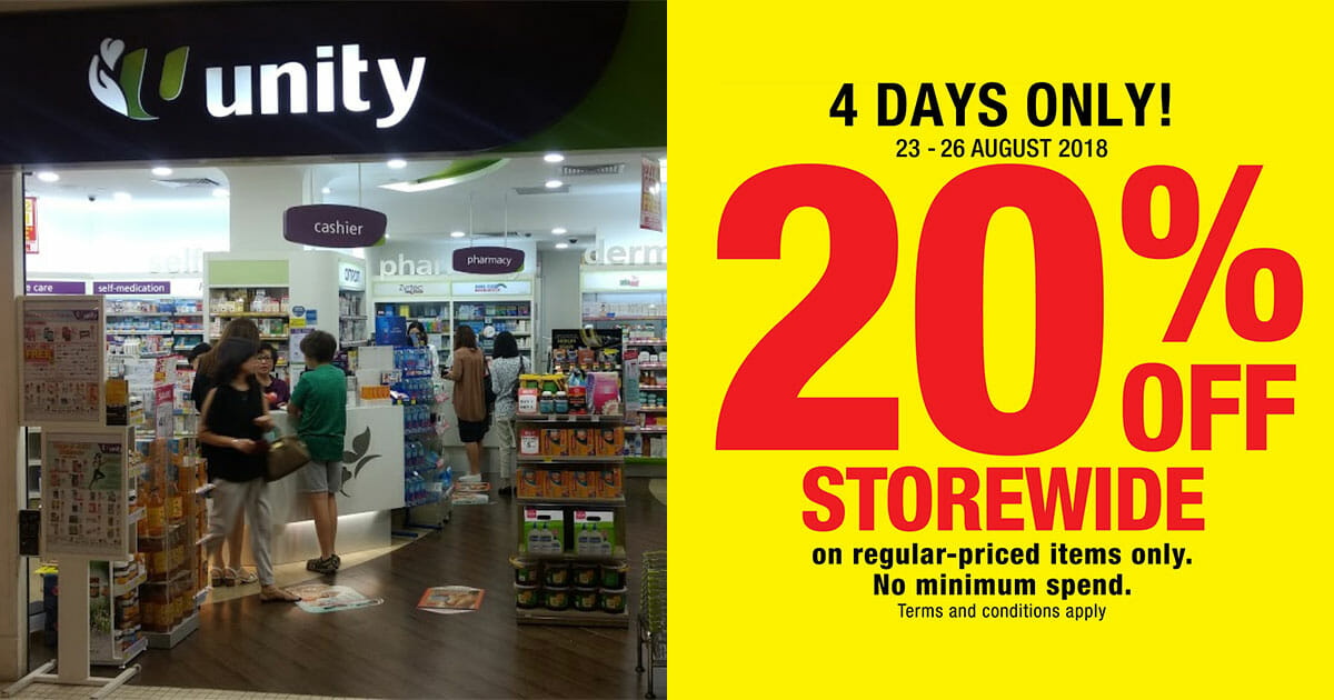 NTUC FairPrice Unity to offer 20% off storewide sale with no minimum spending this week