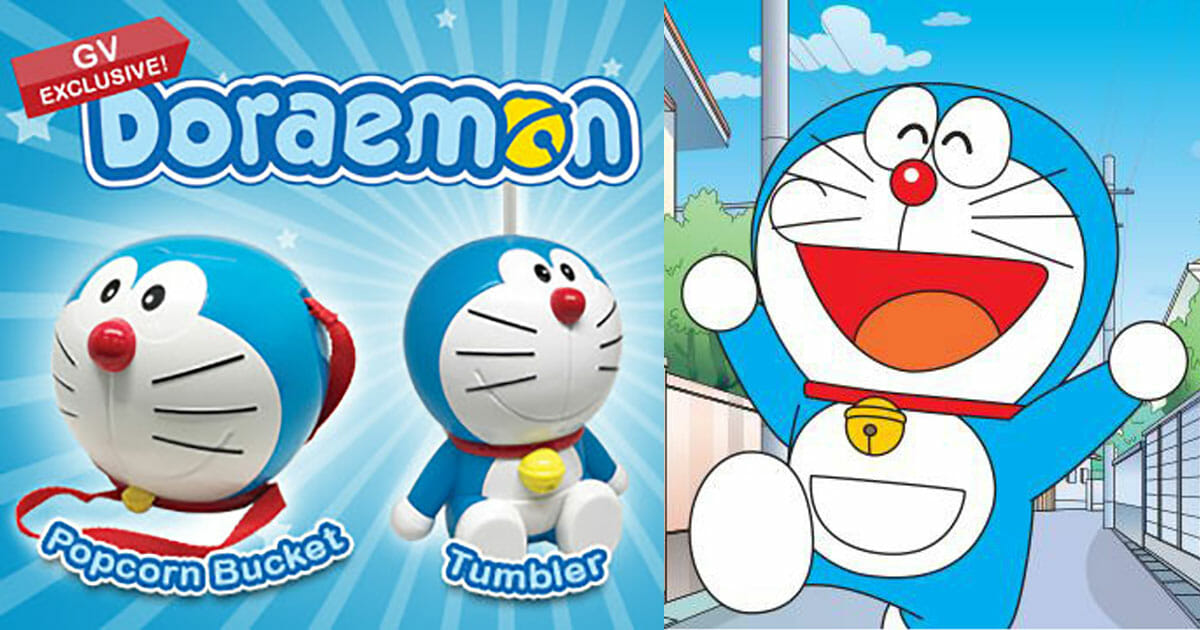 Golden Village quietly launches Doraemon Popcorn Bucket and Tumbler with Combo purchase