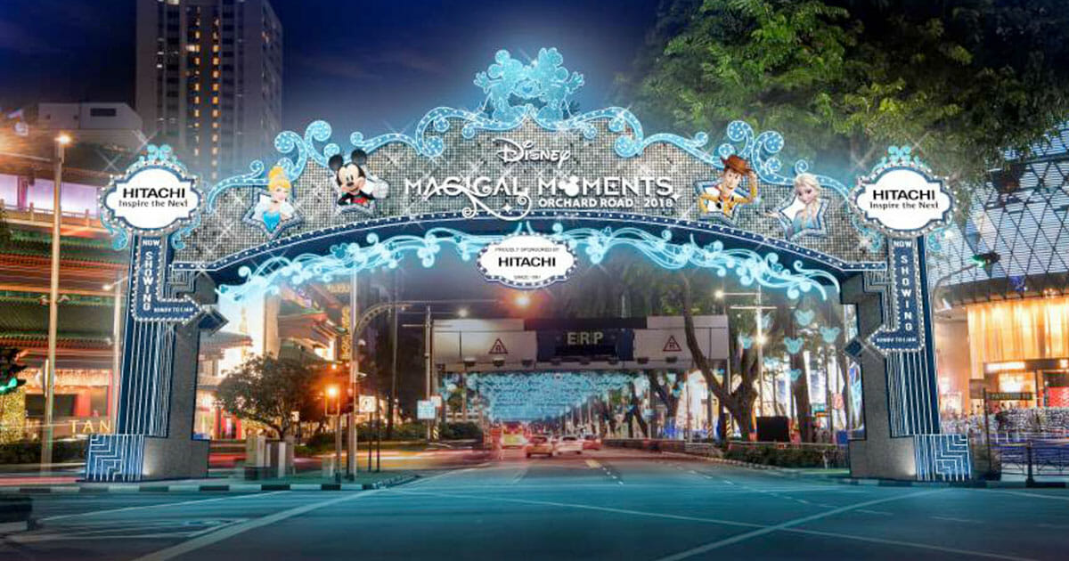 Orchard Road Christmas light-up this year to feature Disney & Pixar characters including Mickey Mouse, Cinderella, Elsa and more