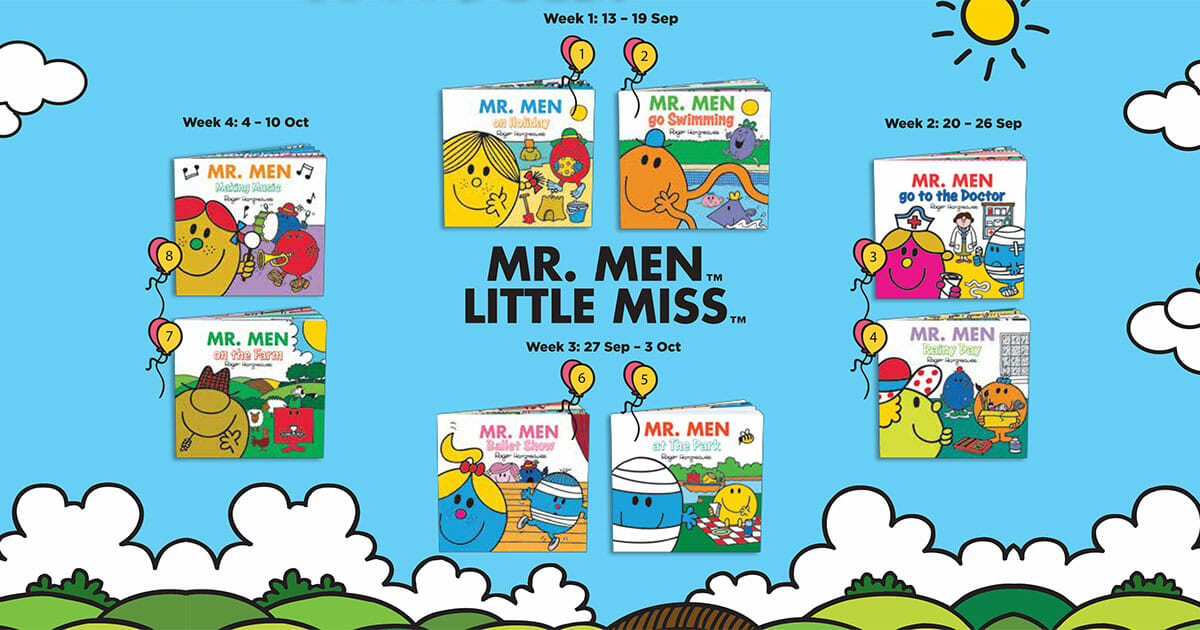 McDonald's S'pore latest Happy Meal Toys aren't toys but Mr. Men and Little Miss Books