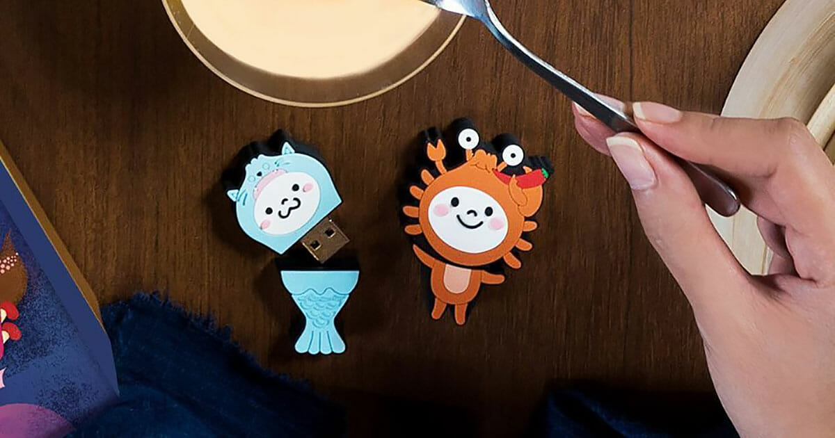 Din Tai Fung is giving out this adorable pair of 'Mer Bao & La Bao' Flash Drive Collectibles at their restaurants