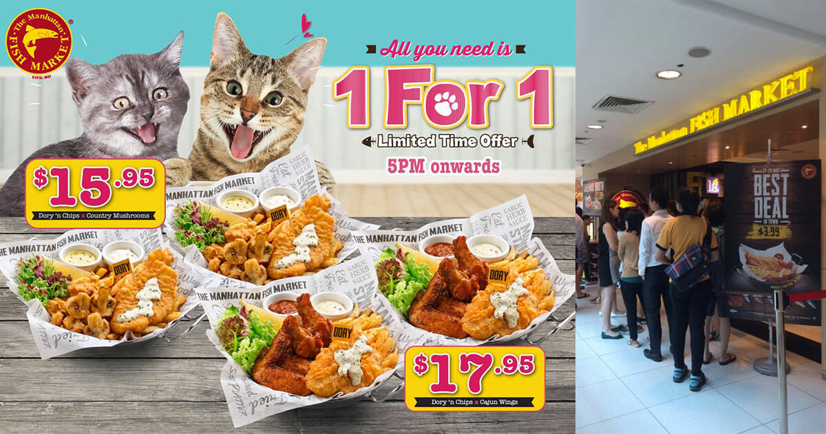 Faster go jio your buddy! Manhattan Fish Market now offering 1-for-1 dining deal after 5pm