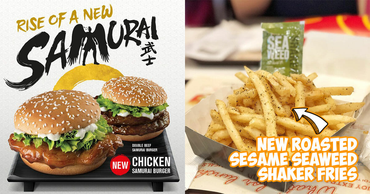 Samurai Burgers & Shaker Fries are coming back to McDonald's S'pore from October 4