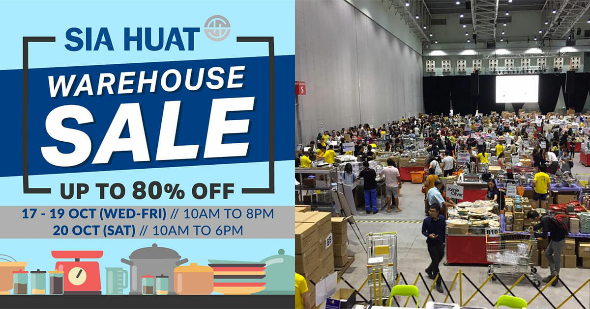 Sia Huat Warehouse Sale is happening this October with over 5,000 kitchen products up for grabs