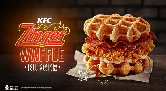 KFC Malaysia's 'Zinger Waffle Burger' looks so good we hope Singapore will make one also