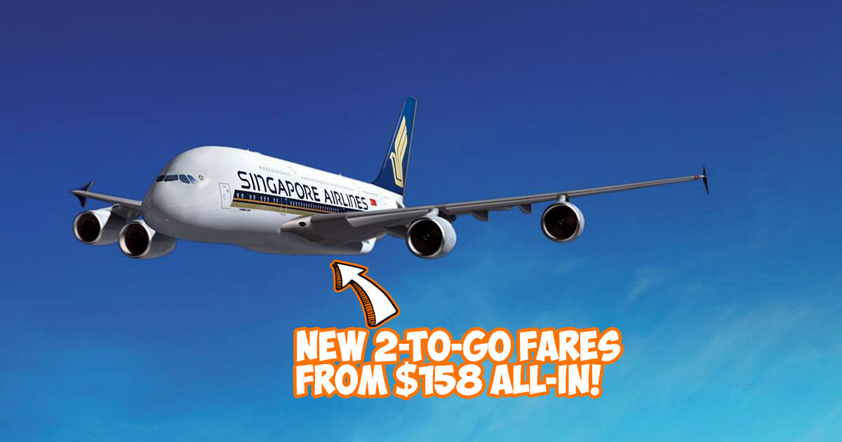 Singapore Airlines offers new 'Two-to-Travel' Fares from $158 all-in to over 80 destinations with Amex cards