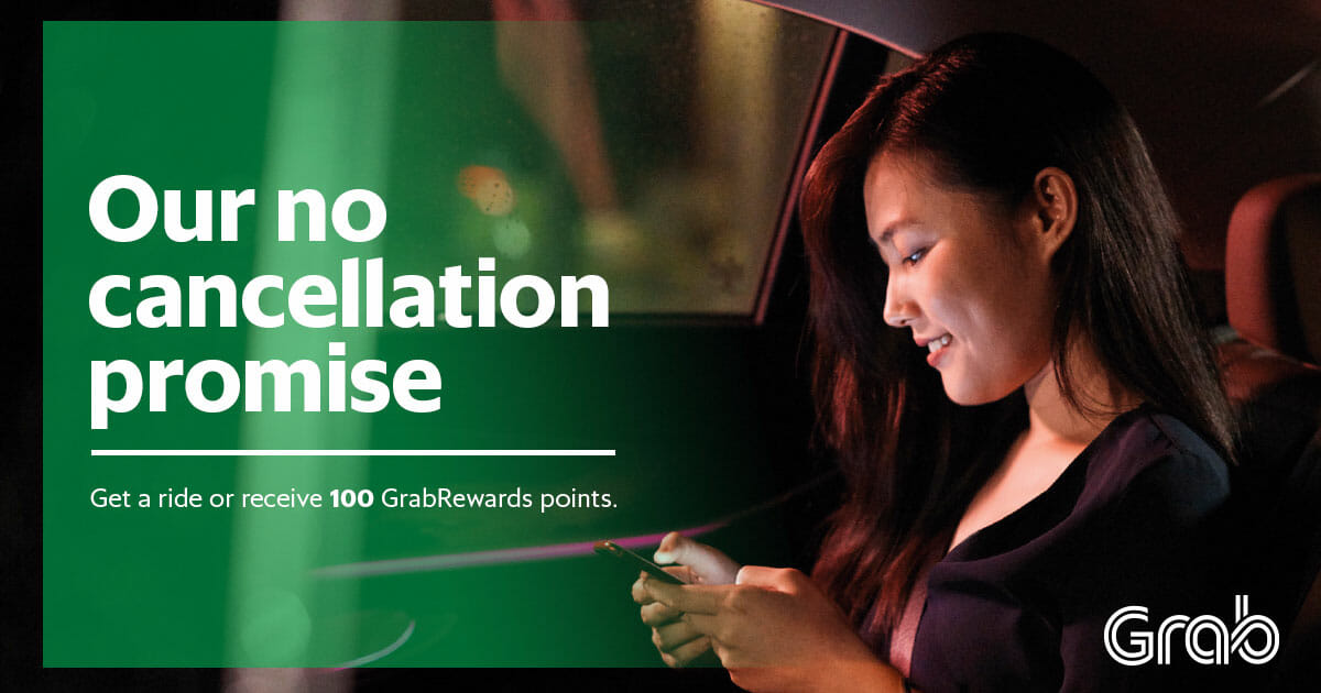 Grab to start giving 100 reward points for every booking cancellation from October 8