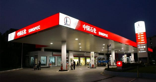 Chinese oil company Sinopec to open its first petrol kiosk