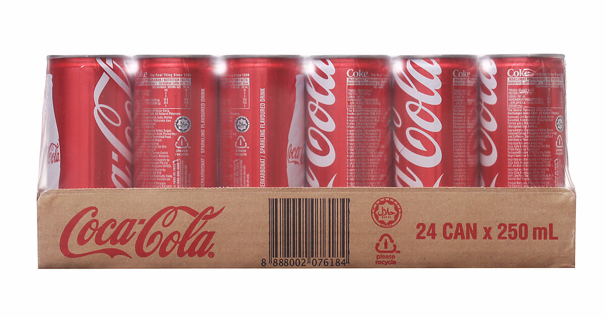 Cheers convenience stores now selling Coca-Cola Slim x 24-can carton for only $9.90
