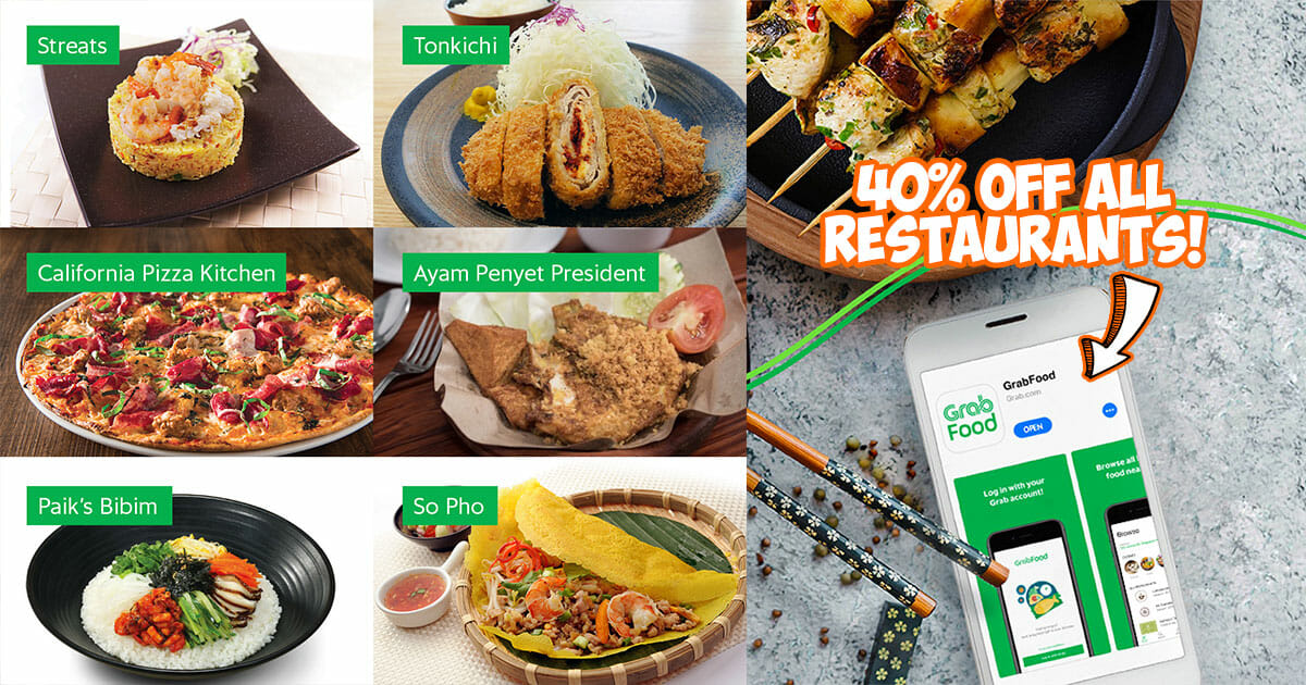 Use this GrabFood Promo Code to enjoy 40% off for your orders from