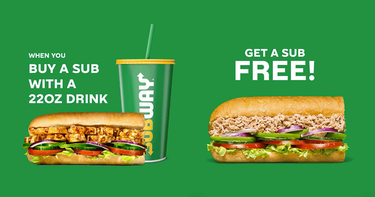 Subway is offering 1-for-1 subs on November 1 because it's World Sandwich Day