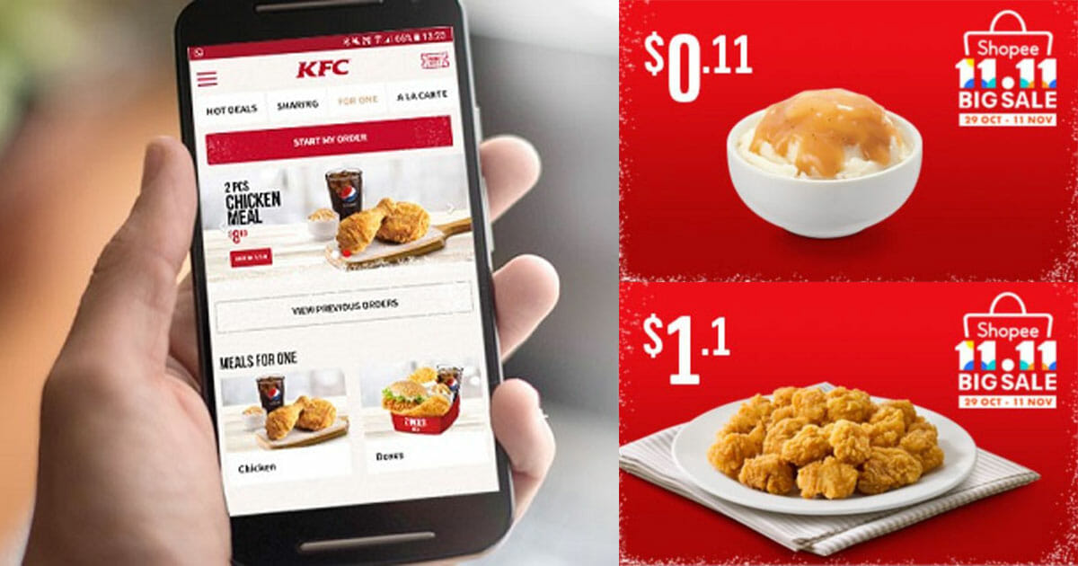 KFC Delivery launches new '11.11' promo codes on extra sides from just 11 cents till November 12