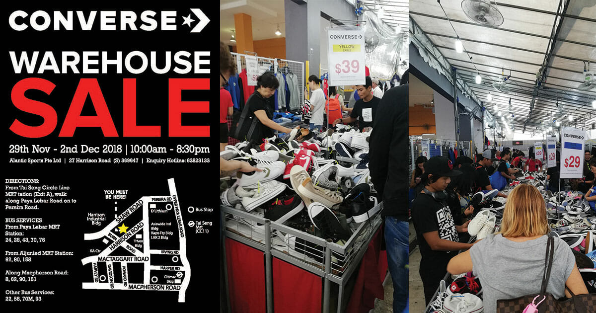 New sneakers confirmed: Converse Warehouse Sale to kick off from November 29