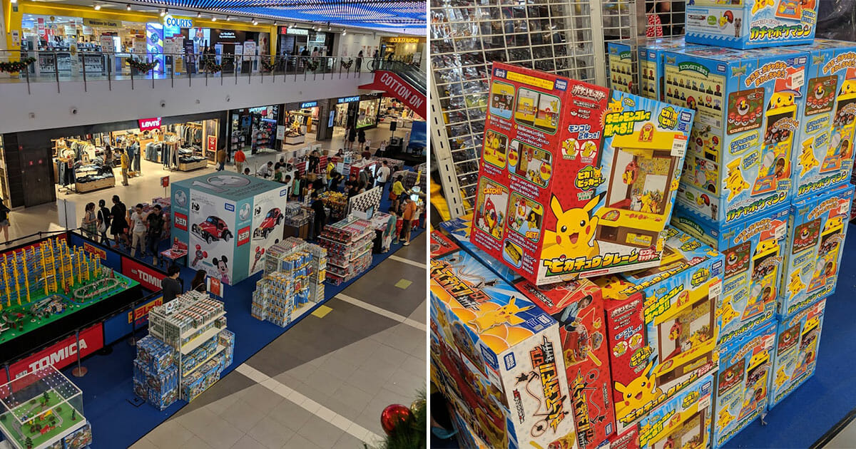 There's a Isetan Toy Fair at Serangoon Nex atrium filled with Pokémon and Takara Tomy toys till November 18