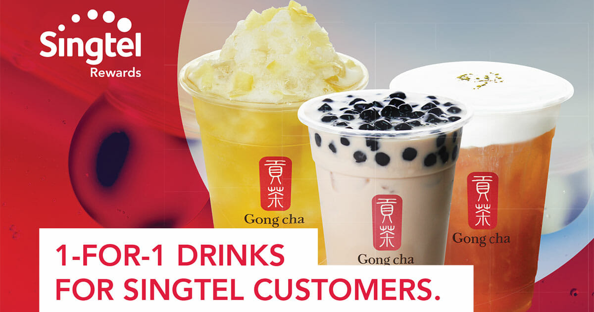 Singtel customer? Enjoy 1-for-1 on drinks at Gong Cha outlets from now till December 19