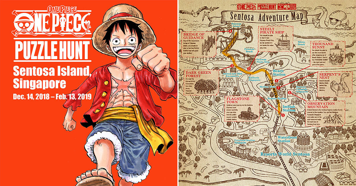 A One Piece Augmented Reality Escape Game is coming to Sentosa this December