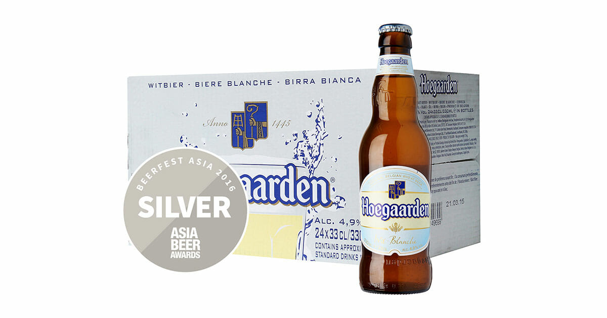 Pick up 24 bottles of Hoegaarden White Beer for only S$48.80 with free shipping