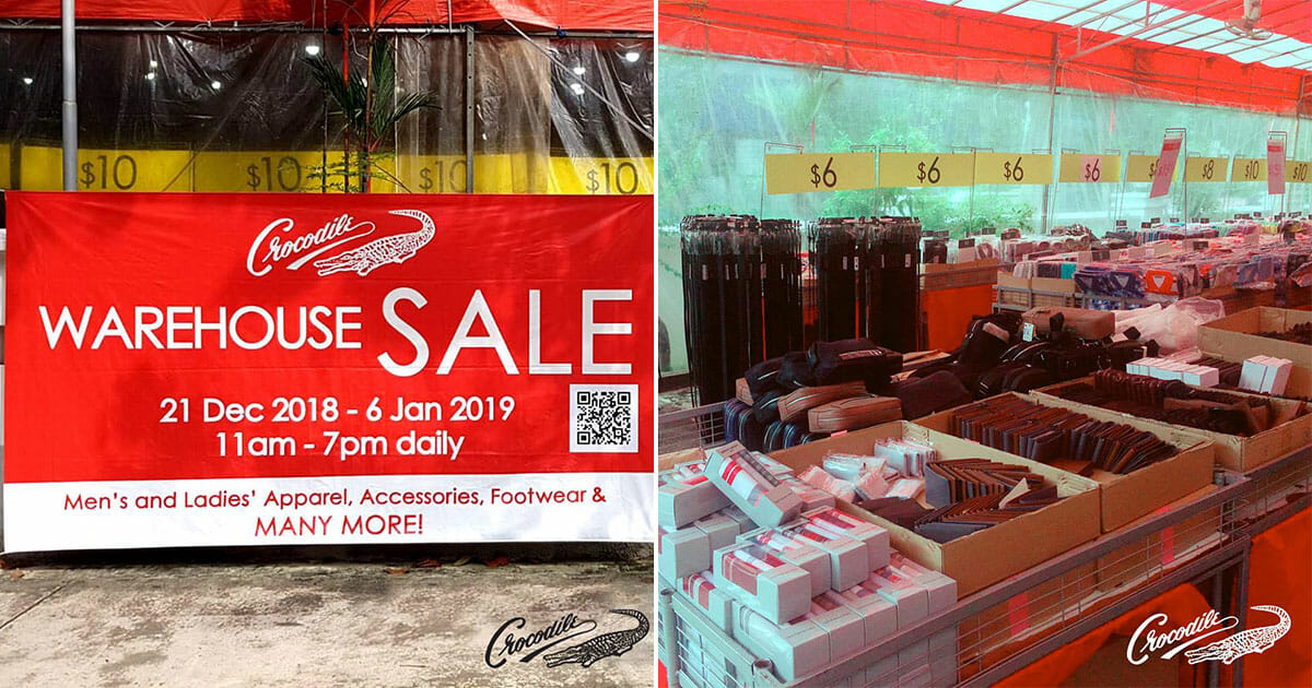 The official Crocodile Warehouse Sale is back this December. Everything up for grabs up to 80% off