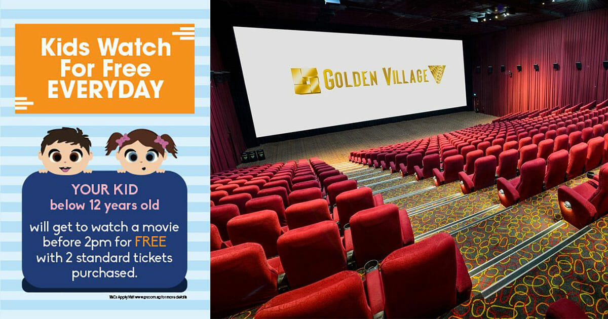 Kids get to watch movies free every day at GV Cinemas before 2pm till November 30