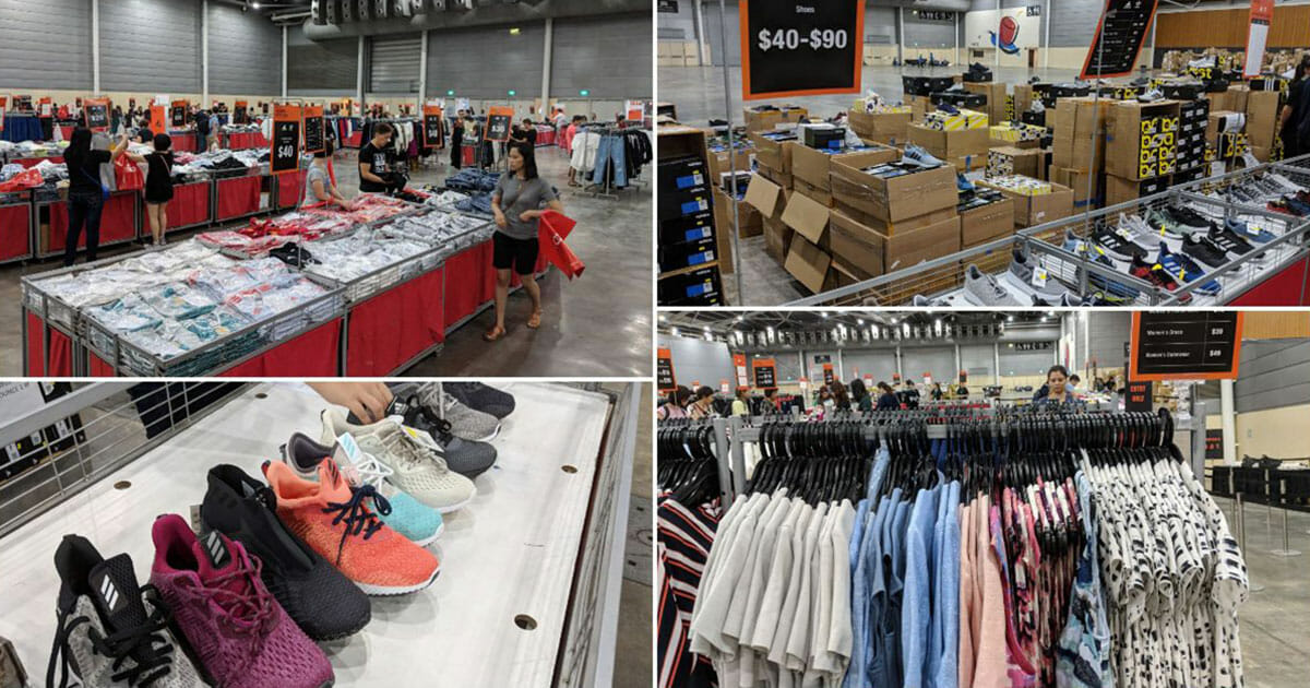 Wing Tai Retail Fashion Expo Sale 2019: Adidas shoes from $40, lots of branded clothes from $8 and more